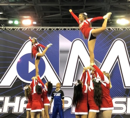 California Interscholastic Federation (CIF) recognized Cheerleading as a competitive high school sport