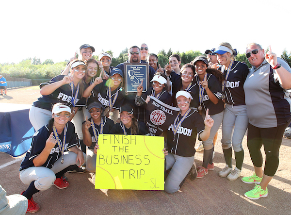 Freedom Softball, NCS champions, 2016